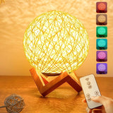 Sepak Takraw LED Moon Night Light Creative Starry Gift With Remote Control Usb Charging Table Lamp Bedroom  For Home Decoration