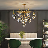Copper Post-modern Light Luxury Crystal Chandelier Creative Simple Nordic Living Room Dining Room Lighting