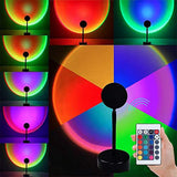 Remote Control RGB Sunset Projection Aesthetic Lamp Night Light  For Home  Bedroom Shop Background Wall Atmosphere Decoration