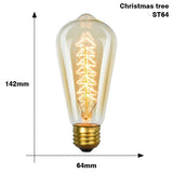 Edison bulb lampada retro lamp incandescent ampoule vintage E27 40w 220V For Decor Filament Bulb E27 Pendant Lights Antique Bulb - heparts