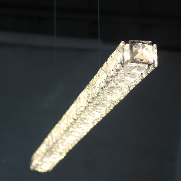 Modern Crystal Led Pendant Lights Lamps 18W Dinning Study Living Room - heparts