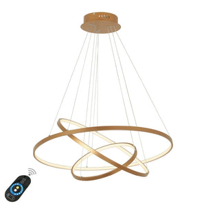 Modern Led Pendant Light Hanging Lamp Gold Painting Aluminium PC for Living Dinning Room 85-265V - heparts