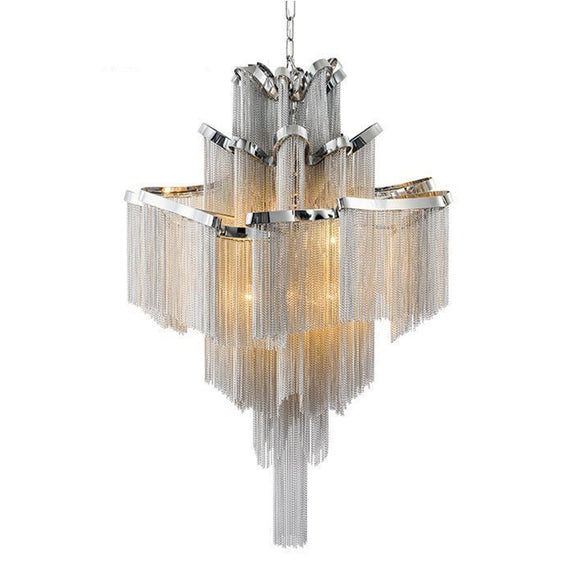 Chandelier Light Modern Aluminum Tassel Chandelier Lighting Luxury Hospitality Lamp Home deco Italy Design E14 - heparts