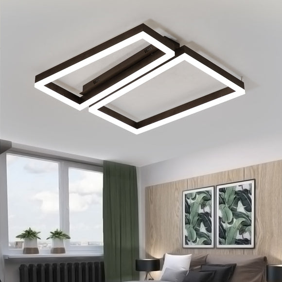 Modern Led Ceiling Lights With Remote Control Ceiling Lamp for Living Room Acrylic Flush Mount Indoor Lighting Luminaire - heparts