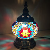 Turkish Mosaic Lamps for Wedding Deco Bedroom Living room turkish mosaic table lamps handmade lampshade Glass mosaic lamp - heparts