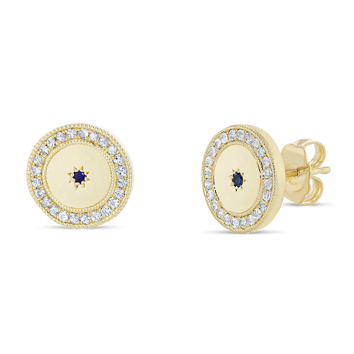 Blue Sun Sapphire Earrings