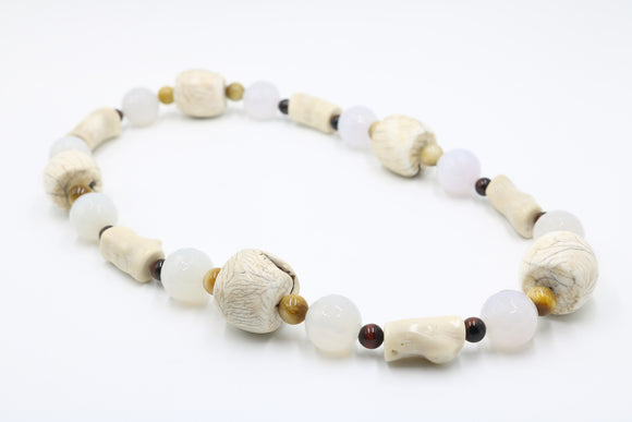 Conch Shell Gemstone Necklace