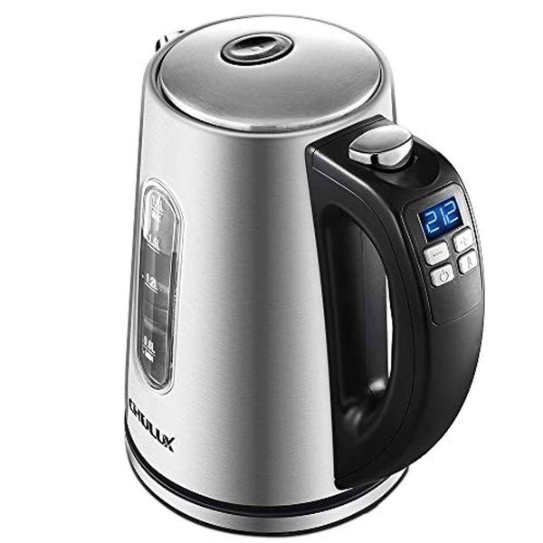 CHULUX Electric Kettle, 1.8L Hot Water Kettle, Stainless Steel Fast Boiling Water Heater with Keep Warm Function
