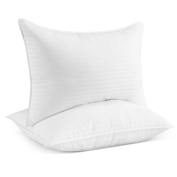 Beckham Hotel Collection Gel Pillow (2-Pack) - Luxury Plush Gel Pillow - Dust Mite Resistant & Hypoallergenic