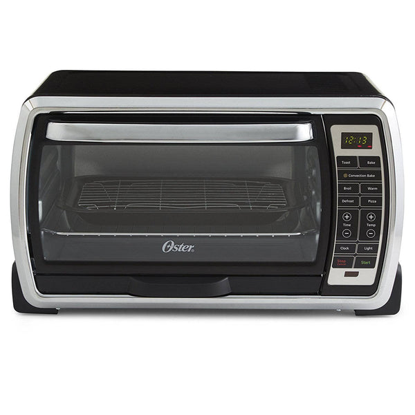 Oster Large Digital Countertop Convection Toaster Oven, 6 Slice, Black/Polished Stainless (TSSTTVMNDG-SHP-2)
