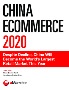 China Ecommerce 2020: Despite Decline, China Will Become the World's Largest Retail Market This Year