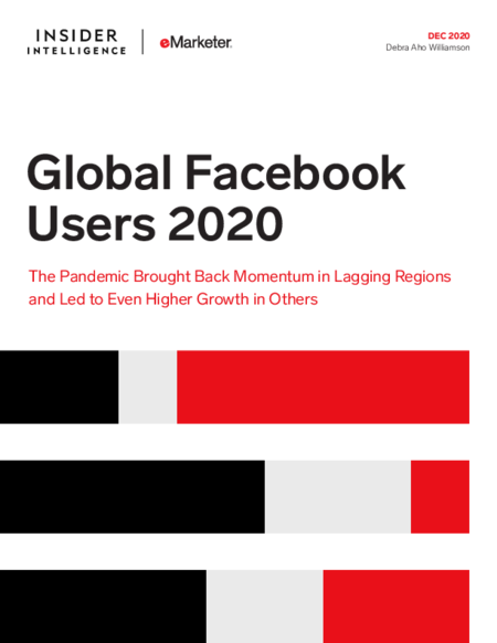 Global Facebook Users 2020: The Pandemic Brought Back Momentum in Lagging Regions and Led to Even Higher Growth in Others
