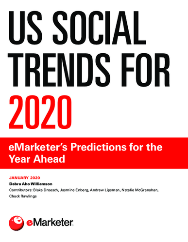 US Social Trends for 2020: eMarketer's Predictions for the Year Ahead