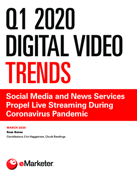 Q1 2020 Digital Video Trends: Social Media and News Services Propel Live Streaming During Coronavirus Pandemic