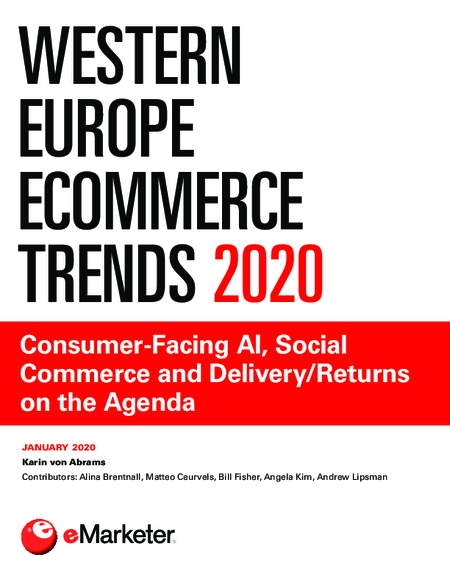 Western Europe Ecommerce Trends 2020: Consumer-Facing AI, Social Commerce and Delivery/Returns on the Agenda