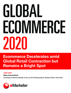 Global Ecommerce 2020: Ecommerce Decelerates amid Global Retail Contraction but Remains a Bright Spot