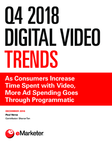 Q4 2018 Digital Video Trends: As Consumers Increase Time Spent with Video, More Ad Spending Goes Through Programmatic