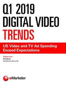 Q1 2019 Digital Video Trends: US Video and TV Ad Spending Exceed Expectations