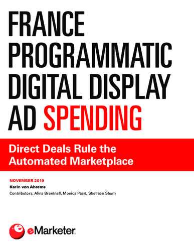 France Programmatic Digital Display Ad Spending: Direct Deals Rule the Automated Marketplace