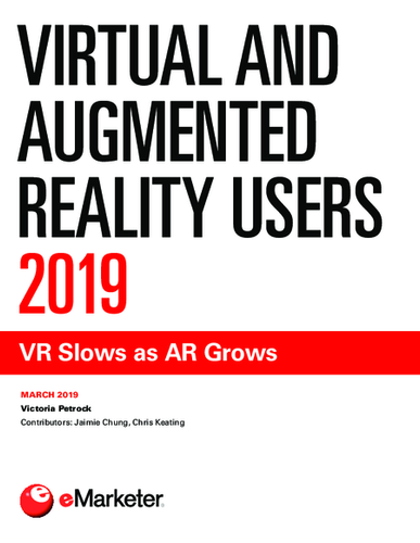 Virtual and Augmented Reality Users 2019: VR Slows as AR Grows