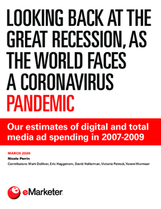 Looking Back at the Great Recession, as the World Faces a Coronavirus Pandemic: Our estimates of digital and total media ad spending in 2007-2009