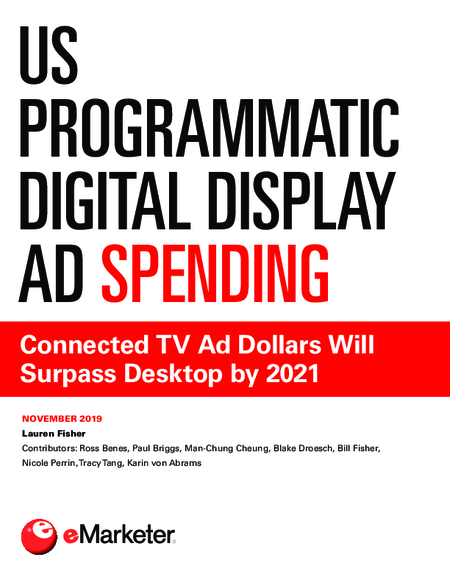 US Programmatic Digital Display Ad Spending: Connected TV Ad Dollars Will Surpass Desktop by 2021