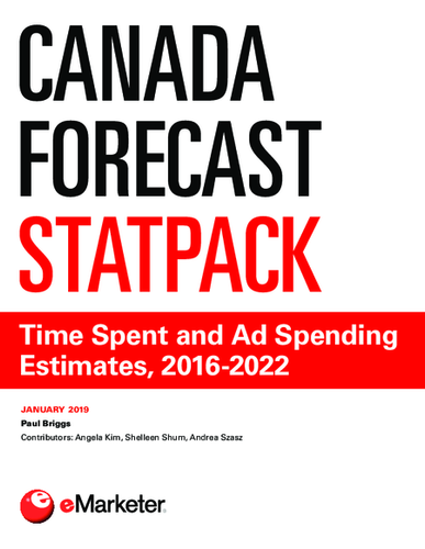 Canada Forecast StatPack: Time Spent and Ad Spending Estimates, 2016-2022