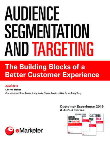 Customer Experience 2019 (Part 1)—Audience Segmentation and Targeting: The Building Blocks of a Better Customer Experience (A 4-Part Series)