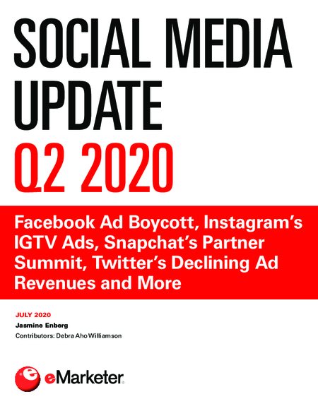 Social Media Update Q2 2020: Facebook Ad Boycott, Instagram's IGTV Ads, Snapchat's Partner Summit, Twitter's Declining Ad Revenues and More