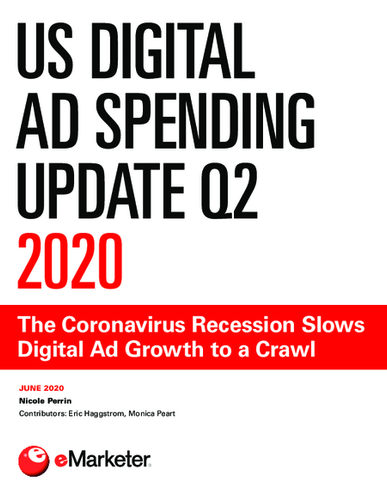US Digital Ad Spending Update Q2 2020: The Coronavirus Recession Slows Digital Ad Growth to a Crawl