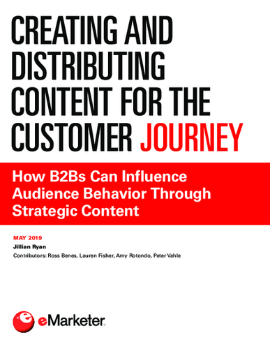 Creating and Distributing Content for the Customer Journey: How B2Bs Can Influence Audience Behavior Through Strategic Content