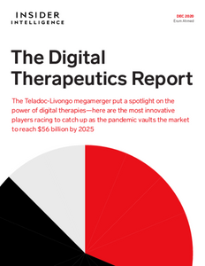 The Digital Therapeutics Report: The Teladoc-Livongo megamerger put a spotlight on the power of digital therapies—here are the most innovative players racing to catch up as the pandemic vaults the market to reach $56 billion by 2025