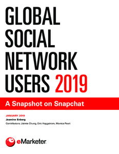 Global Social Network Users 2019: A Snapshot on Snapchat