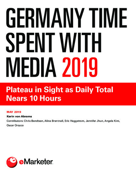 Germany Time Spent with Media 2019: Plateau in Sight as Daily Total Nears 10 Hours