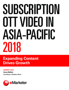 Subscription OTT Video in Asia-Pacific 2018: Expanding Content Drives Growth