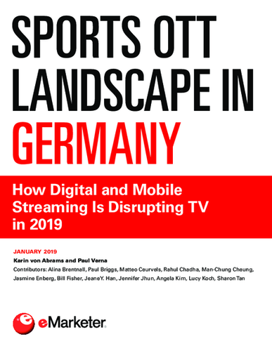 Sports OTT Landscape in Germany: How Digital and Mobile Streaming Is Disrupting TV in 2019
