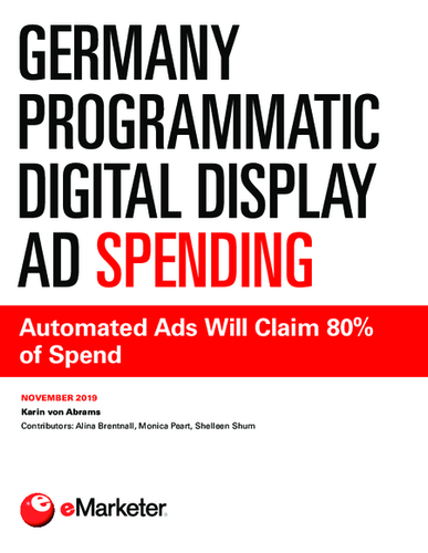 Germany Programmatic Digital Display Ad Spending: Automated Ads Will Claim 80% of Spend