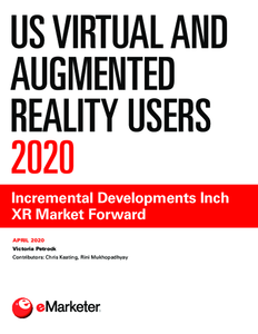 US Virtual and Augmented Reality Users 2020: Incremental Developments Inch XR Market Forward