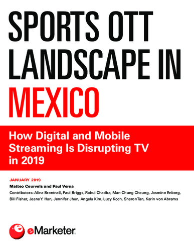 Sports OTT Landscape in Mexico: How Digital and Mobile Streaming Is Disrupting TV in 2019
