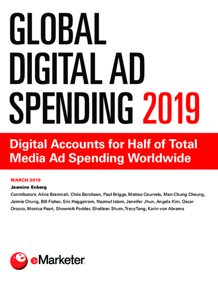 Global Digital Ad Spending 2019: Digital Accounts for Half of Total Media Ad Spending Worldwide