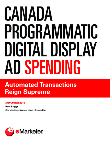 Canada Programmatic Digital Display Ad Spending: Automated Transactions Reign Supreme