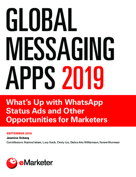 Global Messaging Apps 2019: What's Up with WhatsApp Status Ads and Other Opportunities for Marketers