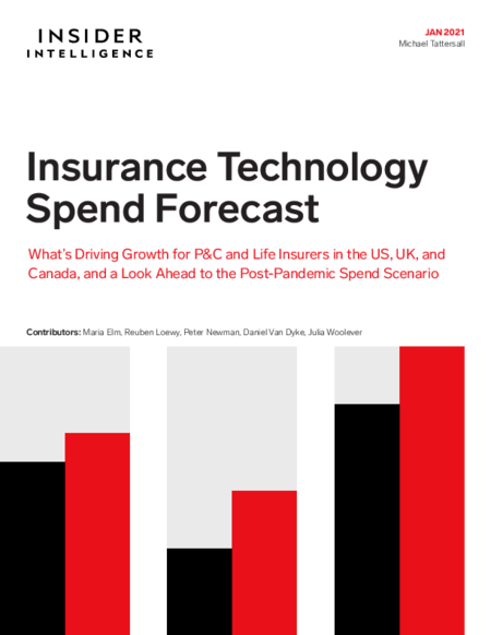 Insurance Technology Spend Forecast: What's Driving Growth for P&C and Life Insurers in the US, UK, and Canada, and a Look Ahead to the Post-Pandemic Spend Scenario