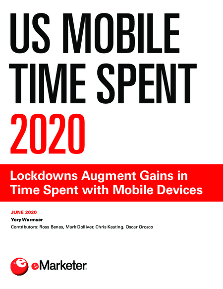 US Mobile Time Spent 2020: Lockdowns Augment Gains in Time Spent with Mobile Devices