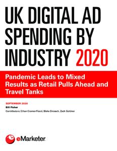 UK Digital Ad Spending by Industry 2020: Pandemic Leads to Mixed Results as Retail Pulls Ahead and Travel Tanks