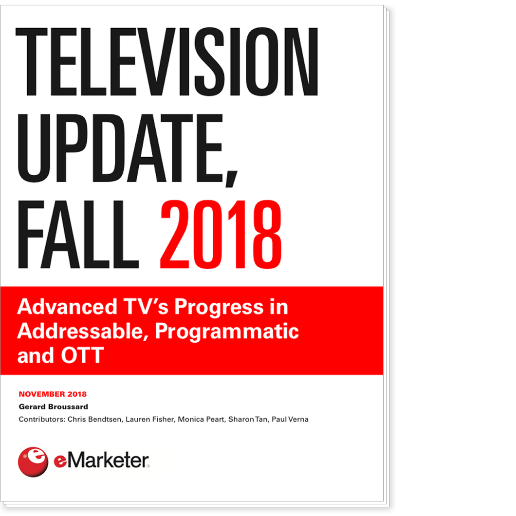 Television Update, Fall 2018: Advanced TV's Progress in Addressable, Programmatic and OTT