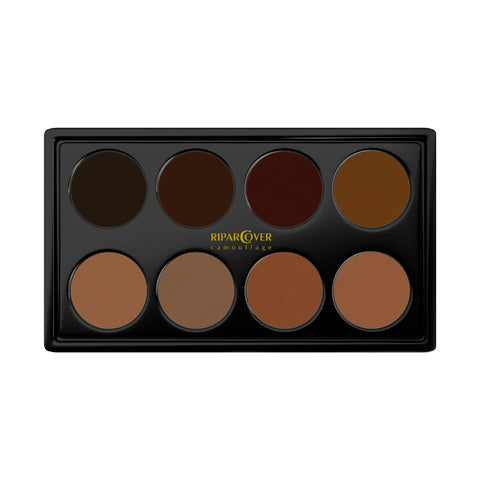 Dark colours camouflage palette