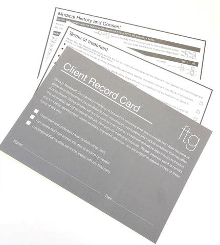 Pack of Client Record Cards Only