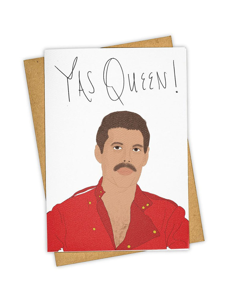 'Yas Queen' Freddie Mercury Card