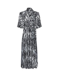 Zebra Print Midi Dress Photo 1